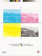 EUROPA Bridges 2018 - PORTUGAL (Azores) - Souvenir Sheet Printed Color Proof + Real Stamp - Ponts