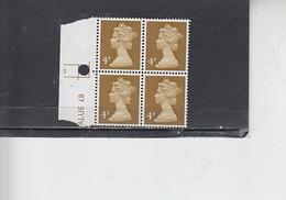 GRAN BRETAGNA  1971 - Unificato 612 (quartina) -  Elisabetta - Nuovi
