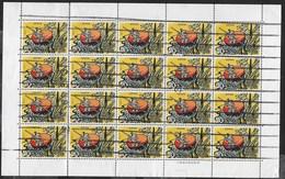 GIAPPONE - 1974 - FIABA STORIA PICCOLO NANO - FOGLIETTO USATO DI 20 FRANCOBOLLI (YVERT 1111 - MICHEL 1210) - Fiabe, Racconti Popolari & Leggende