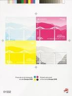 EUROPA Bridges 2018 - PORTUGAL (Madeira) - Souvenir Sheet Printed Color Proof + Real Stamp - Ponts