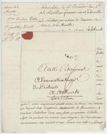 52 CHAT.SALINS (Château Salins) Lettre De Salins Libre An 2 – 2.8.1794 ''Livraison De Sel'' - Marcophilie (Lettres)