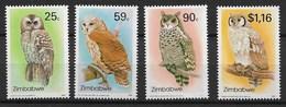 ZIMBABWE 1993 Birds, Owls - Búhos, Lechuza