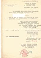 Commandement En Chef Des Forces Françaises En Allemagne - Témoignage De Satisfaction Du Ministre 1957 - Documents