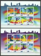Cook Islands (Rarotonga) - Set Of 2 MNH Sheets SUMMER OLYMPICS LONDON 2012 - Zomer 2012: Londen
