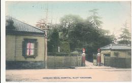 JAPAN - GERMANY NAVAL HOSPITAL, BLUFF YOKOHAMA. - Entrance Gate - Hand Colored - Yokohama