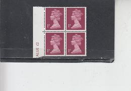 GRAN BRETAGNA  1971 - Unificato  606 (quartina)  -  Elisabetta - Nuovi