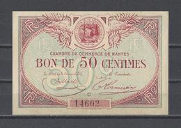Chambre De Commerce De NANTES  Billet De 50c - Cámara De Comercio