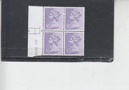 GRAN BRETAGNA  1971 - Unificato  613 (quartina)  -  Elisabetta - Nuovi