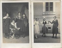 16 BARBEZIEUX CARTE PHOTO COURRET FEMMES 2 CPA - Francia