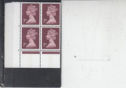 GRAN BRETAGNA  1974-5 - Unificato  734 (quartina)  -  Elisabetta - Nuovi