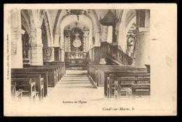 51 - CONDE SUR MARNE - Intérieur De L'Eglise - Other Municipalities