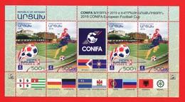 Armenien/Armenie/Armenia/Artsakh/Karabakh 2019, CONIFA European Football Cup, Soccer Flag, MS - MNH - Francobolli