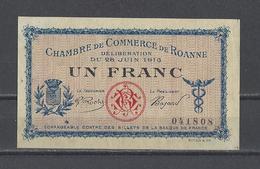 Chambre De Commerce De ROANNE  Billet De 1.00F - Chamber Of Commerce