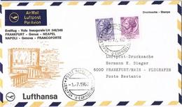 32939. Carta Aerea First Fligth, Volo Inaugurale NAPOLES A Frankfurt 1968. Lufthansa - 6. 1946-.. Repubblica