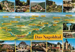 1 Map Of Germany * 1 Ansichtskarte Mit Der Landkarte - Das Nagoldtal * - Landkarten