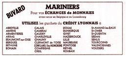 """ÉM M/Buvard Échanges De Monnaies """"Mariniers"""" (Format 17 X 7.5) (N=1) - Buvards, Protège-cahiers Illustrés"""
