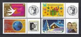 France, Timbre Personnalisé, Année 2002, N° 3479 A / N° 3480 A / 3532 A / Et N° 3533 A ** ( Lot De 4 Timbres Perso... ) - France