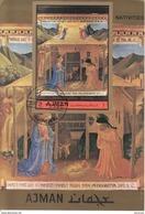 "Ajman 1972 Bf. 421B ""Natività"" Quadro Dipinto Da Beato Angelico Paintings Tableaux Imperf. - Ajman"