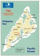 1 Map Of Yap - Federated States Of Micronesia * 1 Ansichtskarte Mit Der Landkarte Der Inselgruppe Yap * - Landkarten