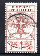 APR1258 - ETIOPIA 1951 ,  Yvert N. 306  Usato  (2380A)  Croce Rossa - Etiopia