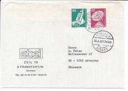 Postbureauvogn TPO Travelling Post Office Postzug Postmark - 20 August 1980 Fredericia - Ålborg T 7993 B - Covers & Documents