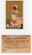 CHROMO Chocolat Guérin-Boutron Vallet-Minot Enfant Bébé Lit Jouet Polichinelle Oh! Le Bon Lolo! Bol Lait - Guerin Boutron