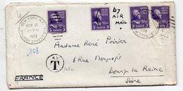 New York (USA) Enveloppe En Provenance Des USA, Lourdement Taxée En France (PPP18456) - Marcophilie