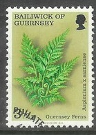1975 Ferns, 3-1/2p, Used - Guernsey