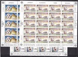 1985 Jersey EUROPA CEPT EUROPE 20 Serie Di 3v. MNH** In Minifoglio Minisheet - Europa-CEPT