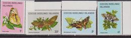 Cocos Farfalle Butterflies  Set MNH - Farfalle