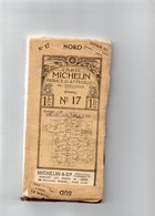 CARTE MICHELIN De LA FRANCE. N°17.EPINAL  Du Nord Au Sud Toilée. 1914-1918 VOIR SCANNES - Cartes Routières