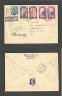 E-ESTADO ESPAÑOL. 1940 (22 Oct) Barcelona - Suiza, San Gallo / St. Gallen (240 At 40) Sobre Certificado Via Aerea Con Va - Non Classés