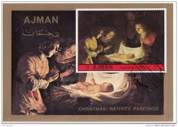 "Ajman 1972  "" Natività "" - Quadro Dipinto Da Gherardo Delle Notti Paintings Tableaux - Ajman"