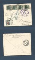 Belgium - XX. 1915 (1 Nov) German WWI Occupation. Brussels - Switzerland, Luzern (4 Nov) Overprinted Germania Multifkd E - Belgium