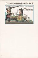 MENU  - L'OR LIQUIDE D'ALSACE  (15.5 X 24 Cm.) - Menus
