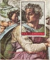 "Ajman 1972 "" Profeta Isaia "" Affresco Dipinto Da Michelangelo Buonarotti Nuovo Imperforato Painting - Ajman"