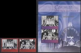 Tristan Da Cunha 2003 - Mi-Nr. 795-796 & Block 46 ** - MNH - Krönung - Tristan Da Cunha