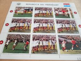 Sheetlet Paraguay 1986 Chile Versus Paraguay Football - Paraguay