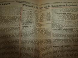 1944 INFO-UNI :Terrible Tragédie De La France Sous Les Bombardements Anglo-am. (Mayenne,Ploermel,Château-Gontier,etc) - Newspapers