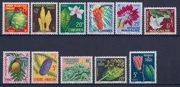 SERIE COLONIALE FLEURS 1958 INCOMPLETE - MANQUE WALLIS COTE 70 EUR NEUF* MLH - France (ex-colonies & Protectorats)