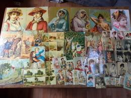 Collection De + De 200 Chromos - Images / Découpis - Vieux Papiers