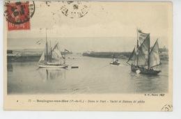 BATEAUX - BOULOGNE SUR MER - Dans Le Port - Yacht Et Bateau De Pêche - Sailing Vessels