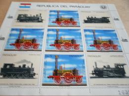 Sheetlet Paraguay 1985 Locomotives Trains - Paraguay