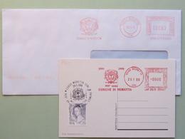 Gelso, Alberi, Araldica,  Ema, Meter, Freistempel (2 Ema Diverse + 1 Bollo Su Cartolina Ill.) Moretta6 - Alberi