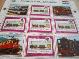 Sheetlet Paraguay 1987 Trains - Paraguay