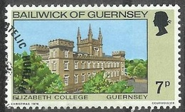 1976 Buildings, 7p, Used - Guernsey