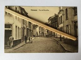 GENAPPE «RUE DE BRUXELLES «Animée,Commerces,pharmacie,CAFÉ DE LA PAIX 1931 (Édit Lutte-Stanga,Genappe). - Genappe