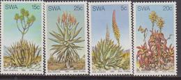SWA 1981 Aloes Plants Succulents Cacti Cactus Nature 4v Set MNH - Flora