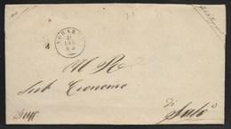 DA VOBERNO A SALO - 31.7.1862. - Marcophilia