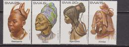 SWA 1982 Pettinature Femminili COSTUMES 485-88 Mnh - Costumi